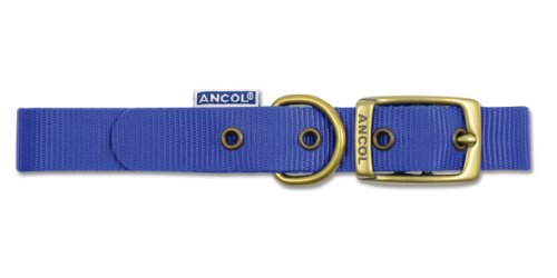 "Ancol Nylon Blue Dog Collar 26""-65cm/26"" Sz 8"