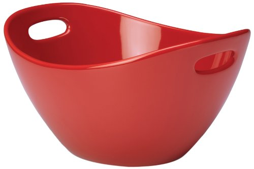 Rachael Ray Stoneware 10-Inch Serving Bowl, Red
