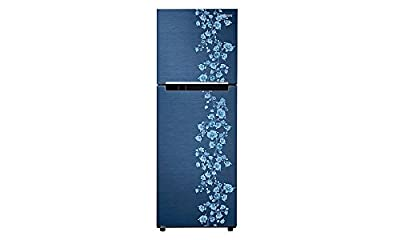 Samsung RT27JARZEPX Frost-free Double-door Refrigerator (253 Ltrs, 4 Star Rating, Orcherry Pebble Blue)