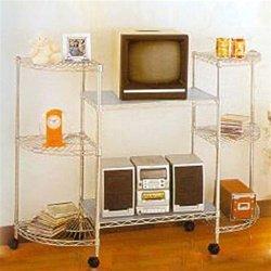 "SI Chrome Wire 60"" Wide Entertainment Unit"