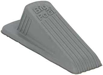 "Impact 7263 Rubber Regular Door Stop, 4-1/2"" Length x 2-1/8"" Width x 1-1/4"" Height, Gray (Case of 12)"