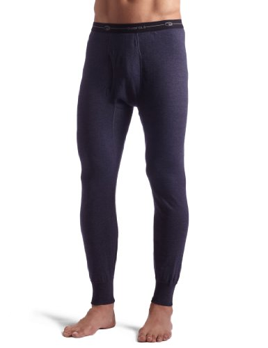 Duofold Men's Midweight Ankle Length Bottom With Moisture Wicking,Navy,Large