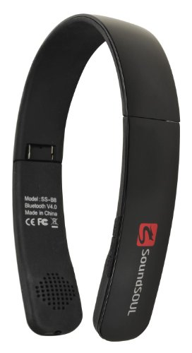 Soundbeats Soundsoul Folding Wireless Bluetooth 4.0 Stereo Universal Headset Headphone (Black, Ss-B8)