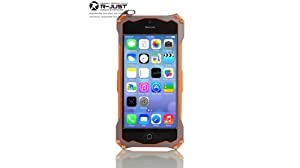 R-just® [Gundam Series] Protective And Metal Case/Cover For Iphone4/4s - Orange