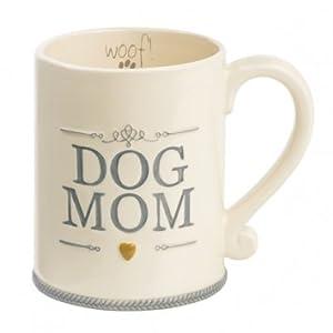 """Dog Mom"" Ceramic Coffee Mug Cup Woof Animal Pet Lover Gift Grasslands Road by Grasslands Road"