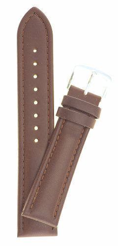 Mens Genuine Italian Leather Watchband Chronograph Style Brown 20Mm Long Watch Band - By Jp Leatherworks