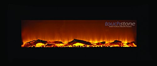 Touchstone 80001 Onyx Wall Mounted Electric Fireplace, 50 Inch Wide, Logset, 1500W Heat (Black) (50 Wall Mounted Fireplace compare prices)
