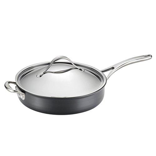 Golden Rabbit Black Swirl Pattern Large Saute Pan