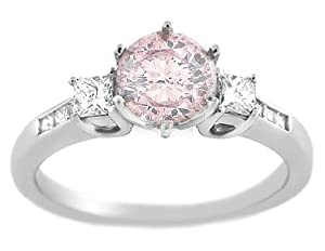 1.65 Pink Diamond Engagement Ring