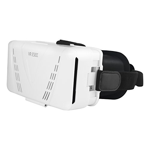 VR ESEE 3D Virtual Reality Glasses Headset For Immersive 3D VR BOX Movies And Games . Compatible With IOS Android 3.5~6.0 Inchs Cellphone (White)