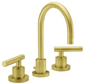 California Faucets Widespread Lavatory Faucet Lifetime Satin Gold Montara Amazon