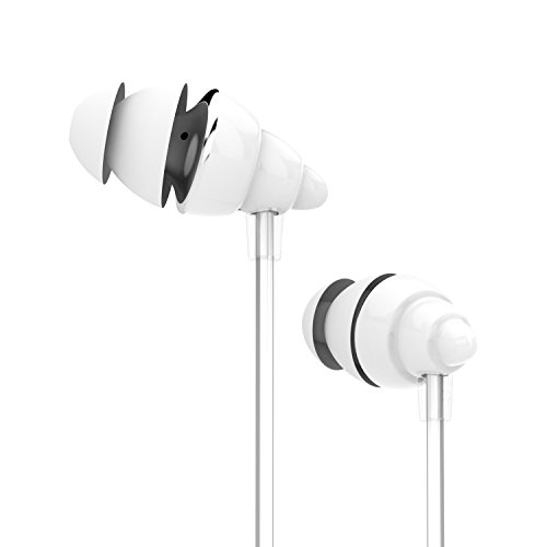 UiiSii F108 Kids Stereo Sound Earphone with Microphone and Volume Control - White