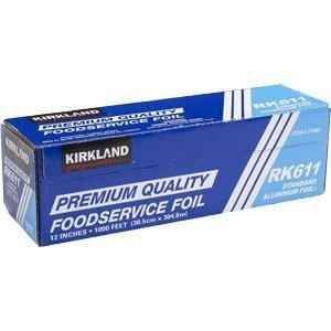 """Kirkland Signature Premium Quality Aluminum Foil RK611 - 12"""" x 1000'"""