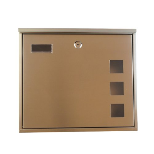 Tmedia Modern Lockable Stainless Steel Letterbox/Mailbox/Postbox & Newspaper Holder Wall Mounted Postbox (Type-B)with Original key tag