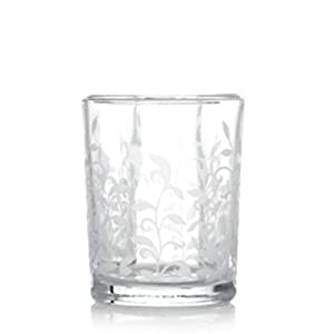 Yankee Candle Clear Floral Glass Sampler Holder