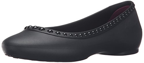 Crocs Lina Luxe Flat W, Ballerine Donna, Nero, 36/37 EU