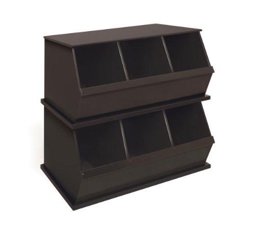 Imagen de Badger Basket Tres Storage Bin Cubby, Espresso