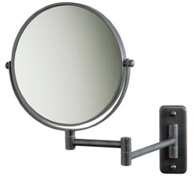 "Seeall 8"" Makeup Vanity Mirror, Oil-Rubbed Bronze, Dual Arm, Wall Mount, 7X Optics front-768823"