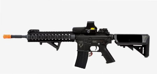 Echo 1 Stag M8A3 Tactical Airsoft Automatic Rifle W/ Free Floating Quad Rail, Dot Sight, Foregrip