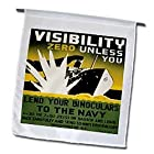 BLN Vintage WPA Posters Collection - Lend Your Binoculars to the Navy Washington DC Wartime Poster - Flags - 12 x 18 inch Garden Flag