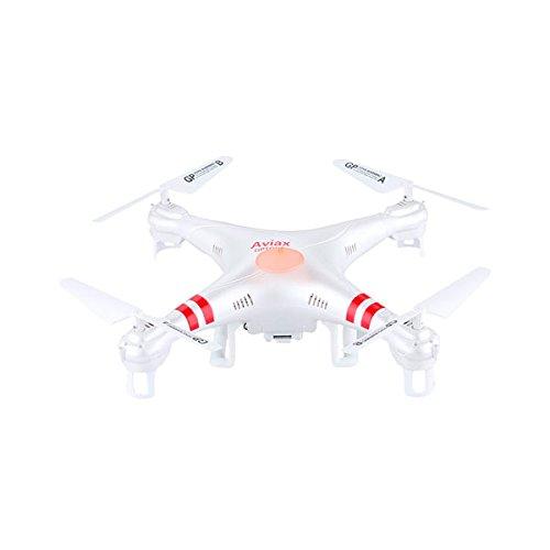 Gptoys F2C Aviax - Quadcopter Drone Falcon RC Cuadricóptero 3D (Modo sin Cabeza, 360 Grados, 4CH 6 Axis 2.4GHz, 2MP Cámara HD, Transmisor LCD) - Blanco