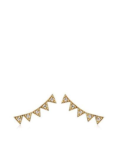 Jardin 18K Gold-Plated Zigzag Bar Post Earrings
