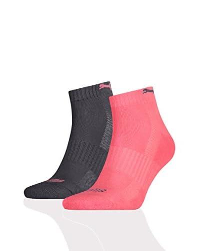 Puma 12tlg. Set Socken Cushioned Quarter Unisex blau/aquamarin