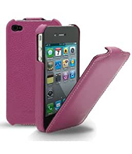Melkco Luxe Purple Handmade Leather Slimline Case for iPhone 4 / 4S