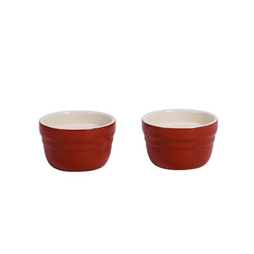 Baker's Advantage Ceramic Ramekins, Set of 2, Red