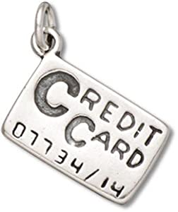 Sterling Silver 3D Credit Card Charm
