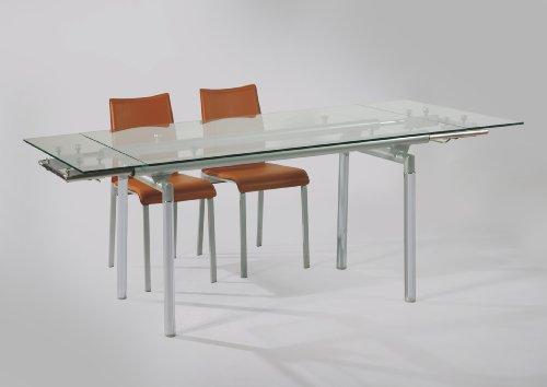 Tango Temper Glass Extensive Dining Table Model# DT-186L