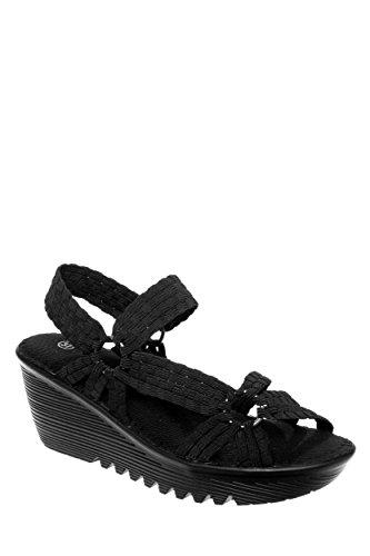 Crystal Casual Wedge Sandal
