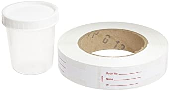 Kendall 8889207034 Polypropylene General Purpose Specimen Container with White Cap, Non Sterile, 4 oz Capacity, Translucent (20 Bags of 25)