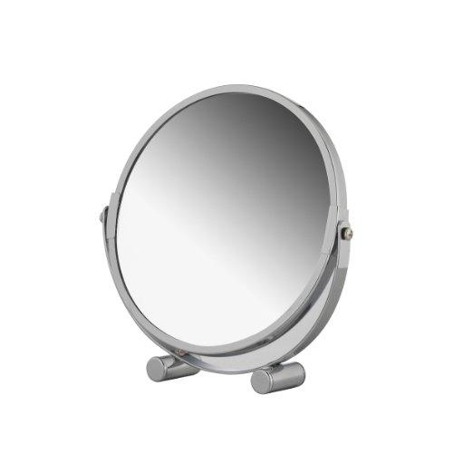 Axentia-Vergrerungs-Standspiegel-Kosmetikspiegel-Badezimmerspiegel-verchromt-rund-ca-17-cm--3-fache-Vergrerung-Rasierspiegel-ideal-fr-alle-Feuchtrume