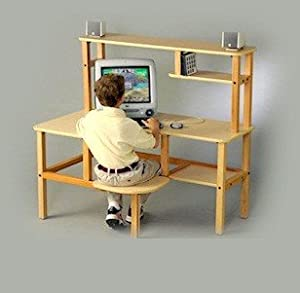 Wild Zoo Furniture Childs Wooden Computer Desk For 1 Ages 5 To 10 Mapletan by Wild Zoo Furniture, Inc