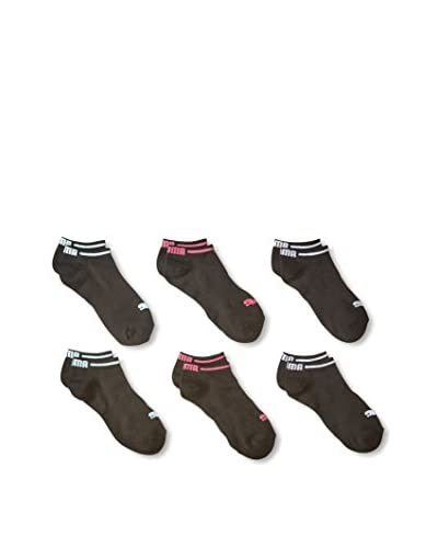 PUMA Women's 6-Pack Non Terry Low-Cut Sock Set