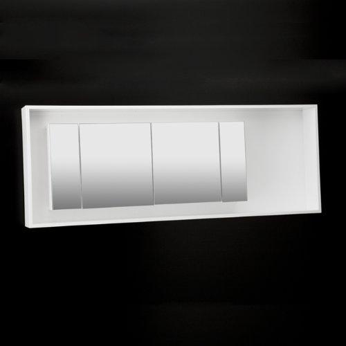 Lacava Wall-Mount Medicine Cabinet W/ 2 Fluorecent 14W & 120V Accent Lights DE200-23 Gray Ebony