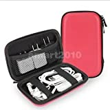 Alcoa Prime EVA Digital Cable Organizer Bag Case Zipper Pouch For Cable Earphone Red