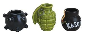 Big Mouth Toys Get Bombed 3-Pack Bomb Shot Glasses, Assorted Set