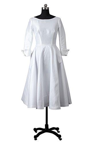 Outerinner Women'S Modest Vintage V Back Circle Wedding Dress 11075-8