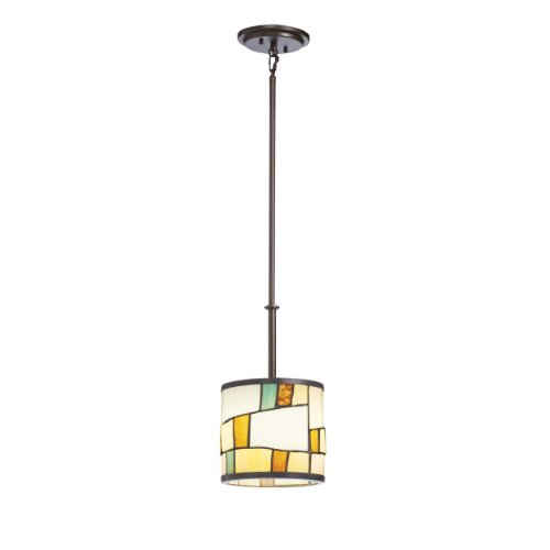 B0057UV87C Kichler Lighting 65346 Mihaela Mini Pendant, Shadow Bronze