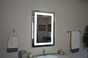 wall mounted lighted vanity mirror led mam82836 commercial grade. Black Bedroom Furniture Sets. Home Design Ideas