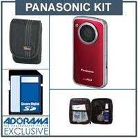 Panasonic HM-TA2 Mobile Camcorder - Red - with 8GB SD Memory Card, Camera Case, Professional Lens Cleaning Kit