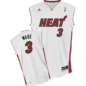 Dwyane Wade White Adidas NBA Revolution 30 Replica Miami Heat Youth Jersey
