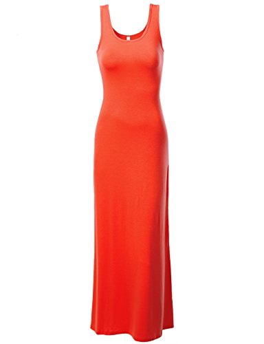 J.Tomson Womens Sleeveless Maxi Dress Tomato Red Medium