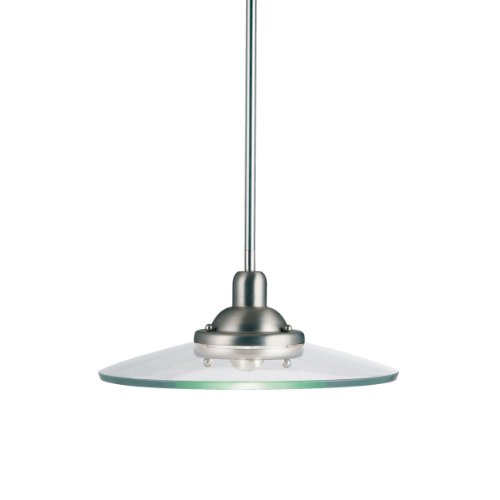 B001B9YB0O Kichler Lighting 2643NI Galaxie 1-Light Incandescent Pendant, Brushed Nickel, 60-Watt