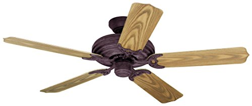 Hunter 23562 54-Inch Sea Air 5-Blade Ceiling Fan, Weathered Brick with Medium Oak Finish Plastic Blades
