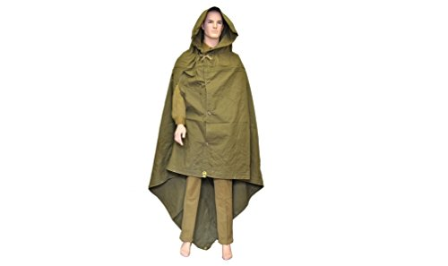 Made in USSR Original Soviet Russian Army WWII Type Soldier Field Canvas cloak tent Raincoat Poncho