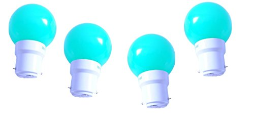0.5 W LED Light Bulbs Green (Set of 4)