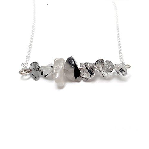 tourmaline-quartz-chip-bar-silver-plated-necklace